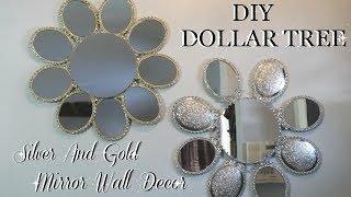 DIY DOLLAR TREE   SILVER & GOLD MIRROR WALL ART DECOR   HOME DECOR DIY FT.  TOTALLY DAZZLED
