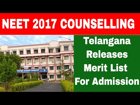 NEET 2017: Telangana releases the first merit list for admission to Medical and Dental Courses