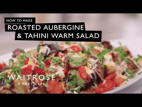Roasted Aubergine and Tahini Warm Salad   Waitrose