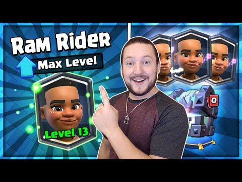 FULLY MAXED RAM RIDER GAMEPLAY! INSANE GEMMING SPREE! Clash Royale Legendary Kings Chest Opening