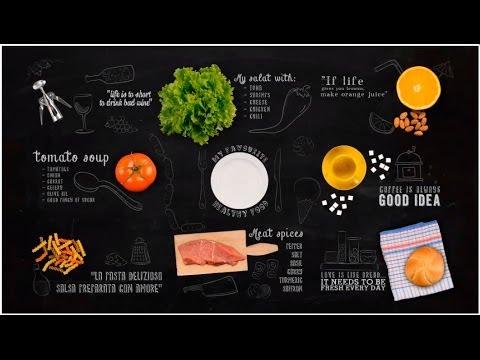 Chalkboard Food Ae Template Youtube