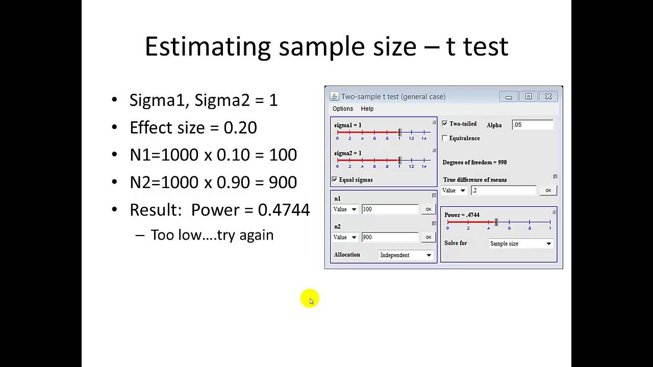 dissertation sampling size