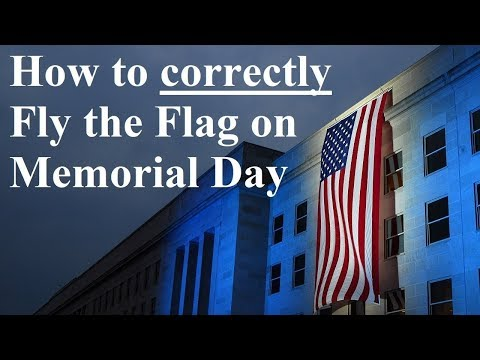 99% Of People Do Not Know How To Fly The American Flag Correctly On Memorial Day.
