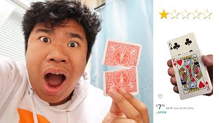 Trying The WORST RATED Amazon Magic Tricks   Sean Does Magic