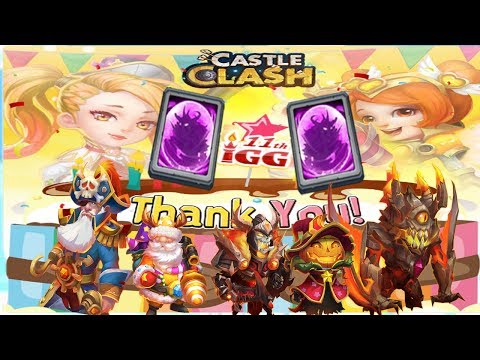 IGG 11TH YEAR ANNIVERSARY REWARDS! -  CASTLE CLASH