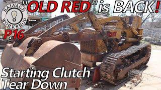 Removing & IMPROVING the the Starting Clutch ~ Part 16 ~ 1950s Caterpillar TraxCavator