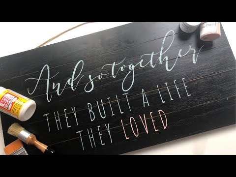 DIY wood stencil sign - crafting with the hubs