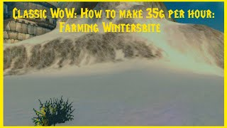 Classic WoW: How to make 35g per hour: Farming Wintersbite