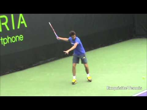Gilles Simon Forehands in Slow Motion