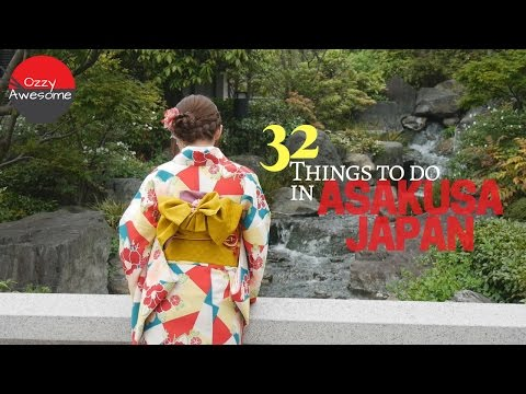 32 Things To Do In Asakusa Japan!! 「字幕付き」