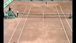 Borg vs Leconte - 1983 Monte Carlo  2R (part 1)