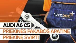Montavimo gale ir priekyje Vikšro Valdymo Svirtis AUDI A6 Avant (4B5, C5): nemokamas video