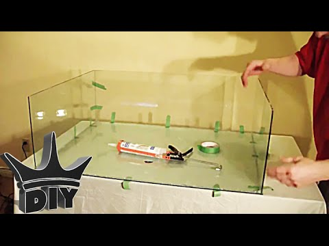 How To Build A Glass Aquarium Tutorial Youtube