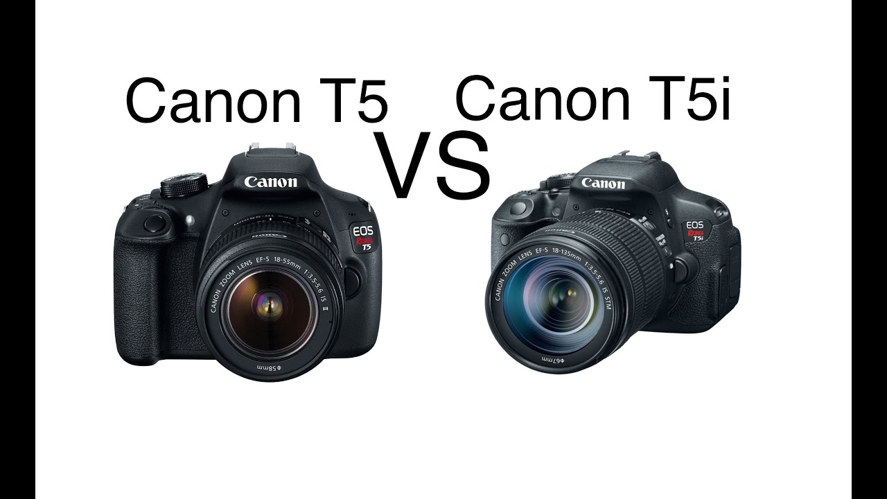 The Canon EOS Rebel T5 vs T5i - What is the difference?