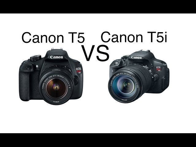 The canon eos rebel t5 vs t5i what is the difference fandeluxe Images