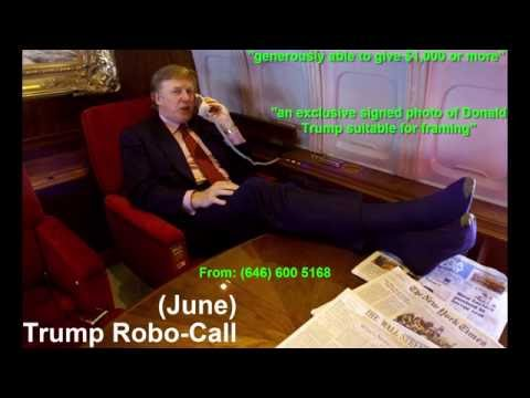 """Trump Robo-Call June 2016: $1,000+ for """"signed photo of Donald Trump suitable for framing"""""""