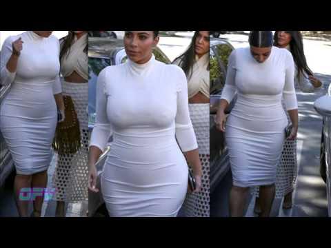 Kim Kardashian   Extremely Tight White Dress thumbnail