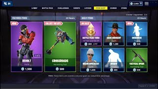 *NEW*Revlot & Rebel Skins & Overdrive Emote ! Fortnite Item Shop February 24, 2019
