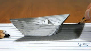 Paper Boat   3D Trick Art on Paper