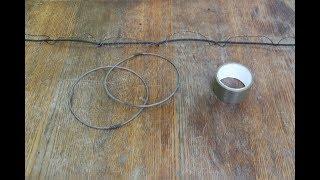 как правильно приматать кольца к нижнему шнуру рыболовной сети. Что использовать при привязке колец