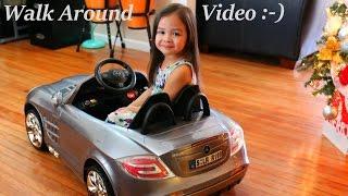 RC Car Power Ride-On Mercedes-Benz Mclaren Walk Around Video w/ Maya