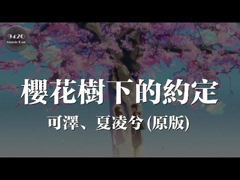 櫻花樹下的約定(原版) - 可澤、夏凌兮「情深或緣淺往往都在一剎那」動態歌詞版