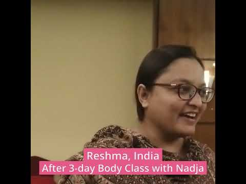 Testimonial after a 3-day Body Class with Nadja in India - Reshma