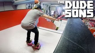 RAMPING A HOVERBOARD? - Ramp Jump Challenge! - The Dudesons