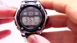 Годинник Casio Illuminator AE-2000WD-1A - Інструкція, як налаштувати від PresidentWatches.Ru
