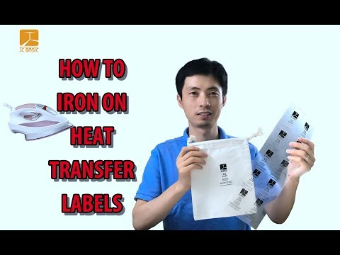 How to iron on heat transfer labels by household iron?