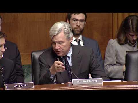 Senator Whitehouse rebuts Senator Sasse on the Bias, Prejudice, and Predisposition of Judges