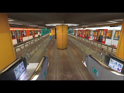 Trainz A New Era U-Bahn Frankfurt U2 round trip U3 and U2 wagen