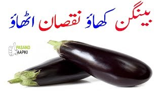 eggplant : aubergine : benefit of eggplant of full information in urdu with Dr Khurram:Pasand Aapki