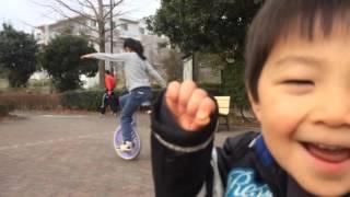 一輪車アイドリング いえ〜い