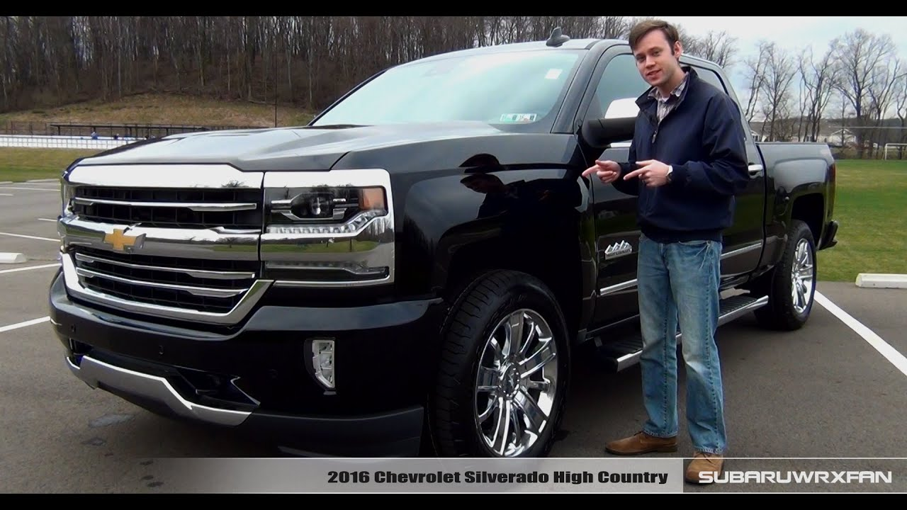 review 2016 chevrolet silverado high country youtube. Black Bedroom Furniture Sets. Home Design Ideas