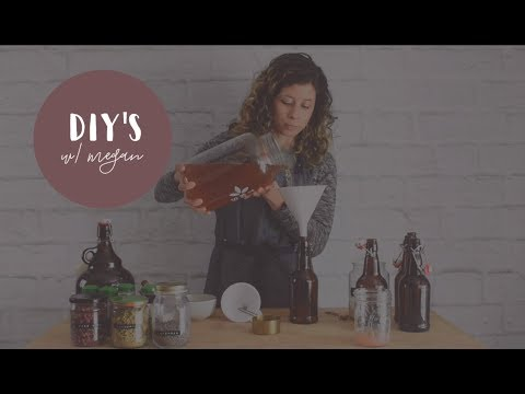 Kombucha Brewing Part 2: Bottling, Flavoring and Second Fermentation (DIY's With Megan)
