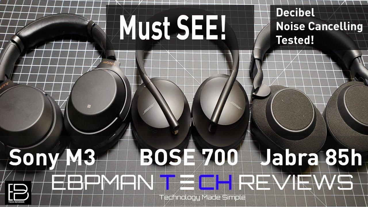 08a4bde89b9 Decibel ANC Test | Bose 700 ANC Headphones vs Sony M3 vs Jabra Elite ...