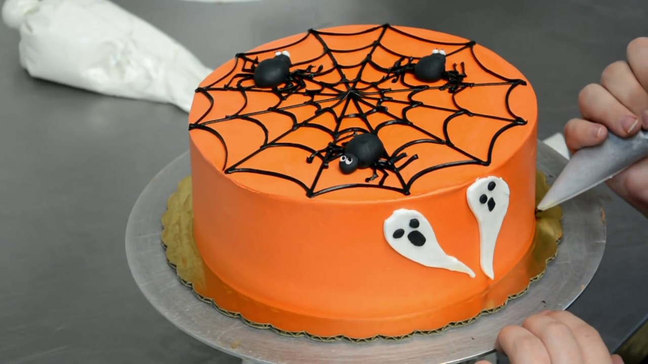 Simply And Easy Halloween Cake Decorating Tutorial Youtube