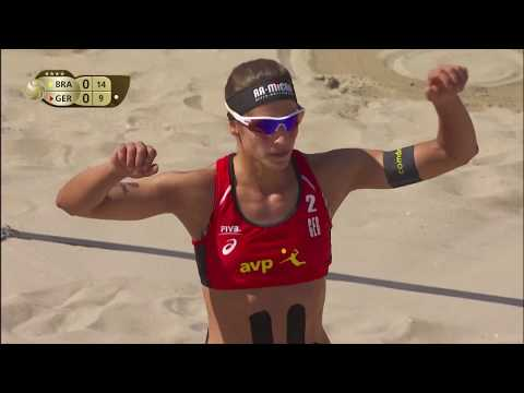 2018 FIVB Huntington Beach Open: Antonelli/Carol Vs. Laboureur/Sude - Women's Semifinal Match
