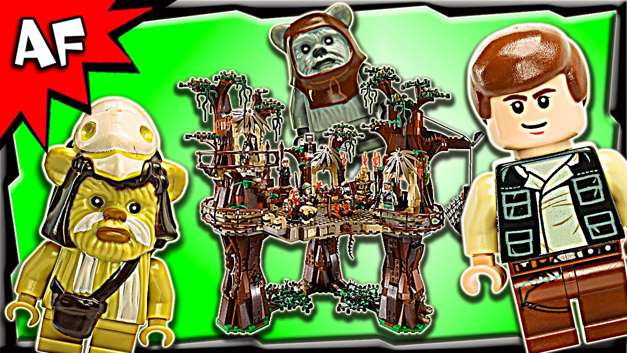 Lego Star Wars Ewok Village Ucs 10236 Stop Motion Build Review Youtube 75157 Captain Rexamp039s At Te