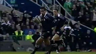 Budge Pountney try vs Ireland 2001