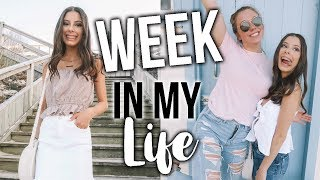 HIGH SCHOOL WEEK IN MY LIFE!!: Getting My Prom Dress, Beach Day, Photoshoot, & Shopping!