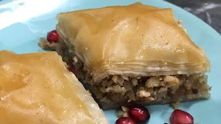 Home made Baklava with nuts