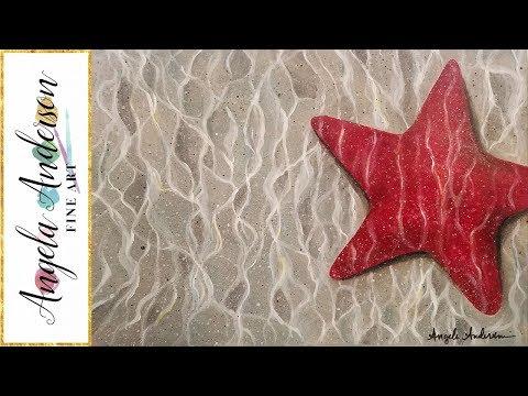 EASY Starfish Underwater Acrylic Painting Beginner Step By Step Tutorial LIVE