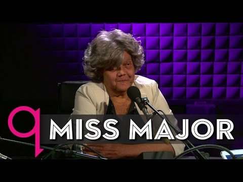 Trans elder Miss Major Griffin-Gracy in studio q
