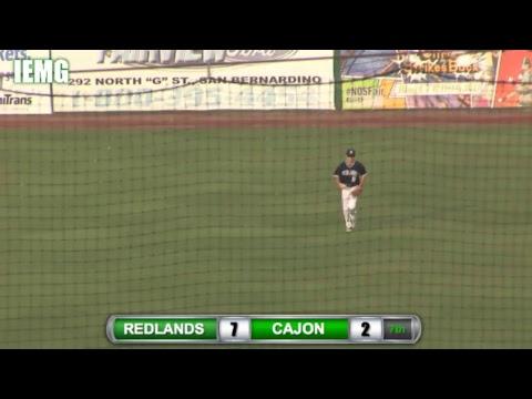 LIVE BASEBALL! Redlands vs. Cajon  (3-30-18) @ San Bernardino, CA.