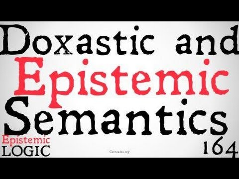 Doxastic and Epistemic Semantics (J. Hintikka)