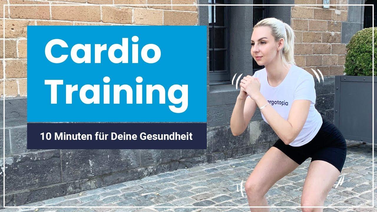 10 Minuten Cardio Workout ohne Geräte ➡️ Powere Dich aus & verbrenne Kalorien!