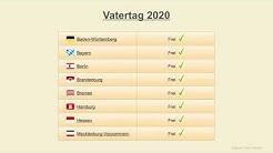 Vatertag 2020 - Datum - Festtage Deutschland 2020