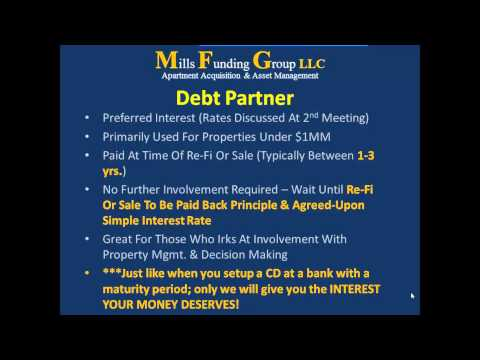 Private Money Drive-By Real Estate Education: Debt Partners & Equity Partners
